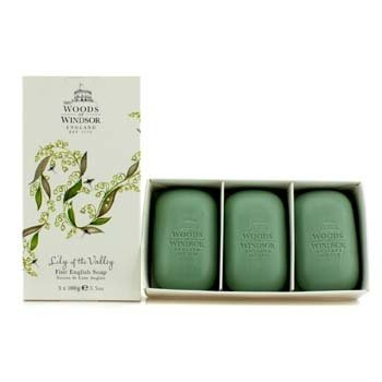 Woods Of Windsor Lily Of The Valley Fine Jab�n Ingl�s  3x100g/3.5oz