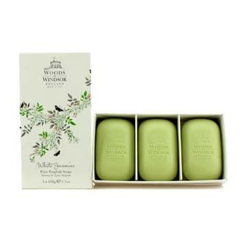 Woods Of Windsor White Jasmine Fine Jabón Inglés  3x100g/3.5oz