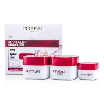 L'Oreal Revital Lift Programme: Creme diurno + Creme p/ os olhos + Creme noturno  3pcs