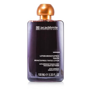 """Academie Bronz"""" Express színezett önbarnító lotion arcra és testre  100ml/3.33oz"""