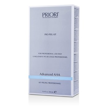 Priori Advanced AHA PRO Set Exfoliantee ( Tamaño Salón ) : Solución Pre-Exfoliantee+  Gel Exfoliantee Multi capas  2x180ml/6oz