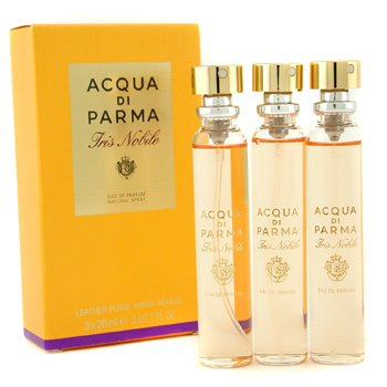 Acqua Di Parma Iris Nobile Leather Purse Recambios Vaporizador Eau De Parfum  3x20ml/0.7oz