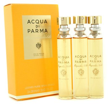Acqua Di Parma Magnolia Nobile Leather Purse Recambios Vaporizador Eau De Parfum  3x20ml/0.7oz