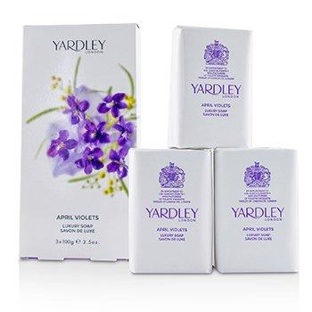 Yardley April Violets Lüks Sabun  3x100g/3.5oz