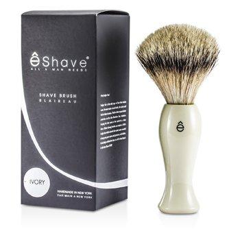 EShave Finest Badger Long Shaving Brush - White  1pc
