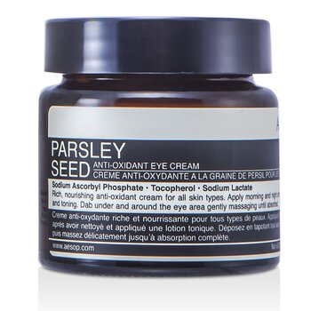 Aesop Creme p/ os olhos Parsley Seed Anti-Oxidant   60ml/2oz