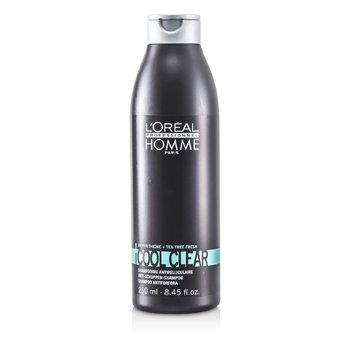 L'Oreal Professionnel Homme Cool Clear Anti-Schuppen Champú  250ml/8.45oz