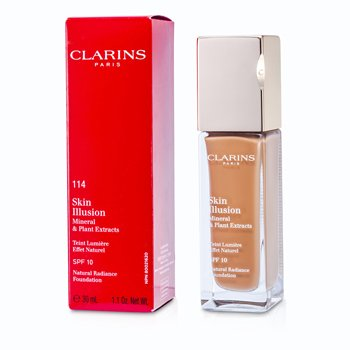 Clarins Skin Illusion Natural Radiance Base de Maquillaje SPF 10 - # 114 Cappuccino  30ml/1.1oz