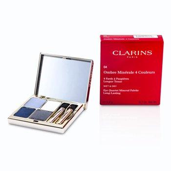 Clarins Paleta 4 Sombras de Ojos Minerales - # 04 Indigo  5.8g/0.2oz