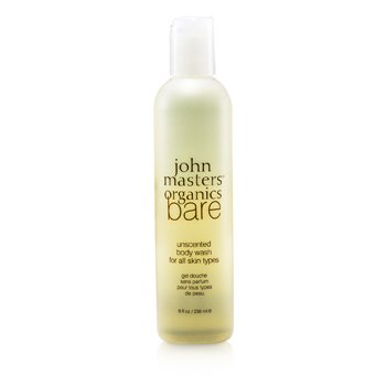 John Masters Organics Bare Unscented Body Wash  236ml/8oz