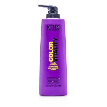 KMS California Vitalitate Colorată Şampon Pentru Păr Blond ( Iluminare şi Strălucire Restaurată )  750ml/25.3oz