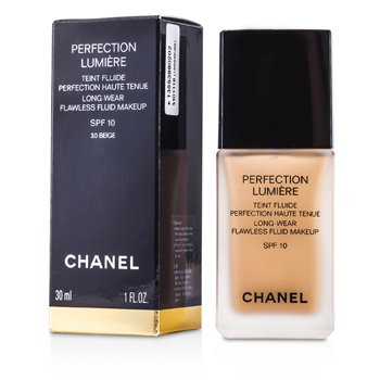 Chanel Perfection Lumiere Long Wear Flawless Fluid Make Up SPF 10 - # 30 Beige  30ml/1oz
