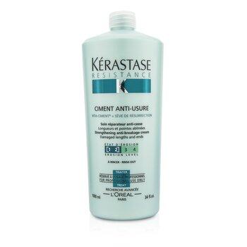 เคเรสตาส ครีมต่อต้านผมแตกปลาย Resistance Ciment Anti-Usure Strengthening Anti-Breakage Cream - ล้างออก (สำหรับผมเสีย & ผมแตกปลาย)  1000ml/34oz