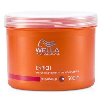 Wella ماسک مرطوب کننده موهای خشک و آسیب دیده Enrich (برای موی معمولی/کم پشت)  500ml/16.7oz