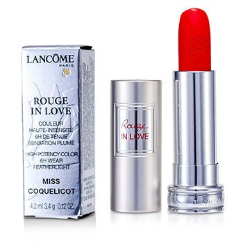 Lancôme Batom Rouge In Love Lipstick - # 146B Miss Coquelicot  4.2ml/0.12oz