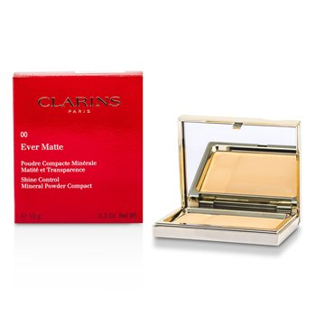 Clarins Ever Matte Shine Control Mineral Powder Compact - # 00 Transparent Opale  10g/0.35oz