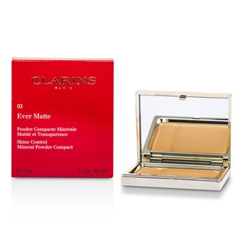 Clarins Ever Matte Shine Control Polvos Compactos Minerales - # 03 Transparent Warm  10g/0.35oz