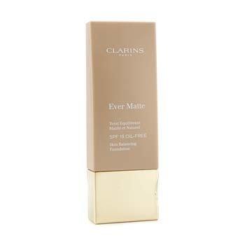 Clarins Base livre de óleo Ever Matte Skin Balancing Oil Free Foundation SPF 15 - # 110 Honey  30ml/1.1oz