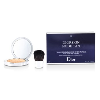 Christian Dior Diorskin Nude Tan Nude Glow Sun Powder (With Kabuki Brush) - # 002 Amber  10g/0.35oz
