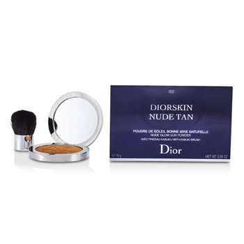 Christian Dior Diorskin Nude Tan Nude Glow Sun Powder (With Kabuki Brush) - # 003 Cinnamon  10g/0.35oz