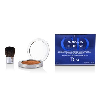 Christian Dior Pó facial Diorskin Nude Tan Nude Glow Sun Powder (With Kabuki Brush) - # 004 Spicy  10g/0.35oz