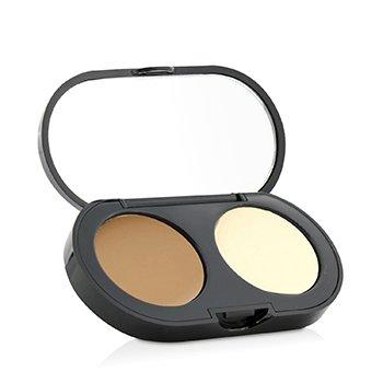 Bobbi Brown Kit Konsilor Baru Berkrim - Golden Konsilor Berkrim+ Bedak Padat Pale Kuning Kemasan Lembut   3.1g/0.11oz