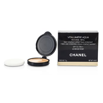 Chanel Vitalumiere Aqua Fresh And Hydrating Cream Compact MakeUp SPF 15 Refill - # 42 Beige Rose  12g/0.42oz