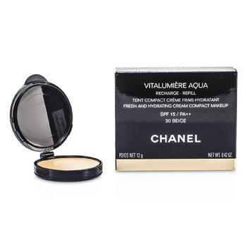 Chanel Pó facial Vitalumiere Aqua Fresh And Hydrating Cream Compact MakeUp SPF 15 Refill - # 30 Beige  12g/0.42oz