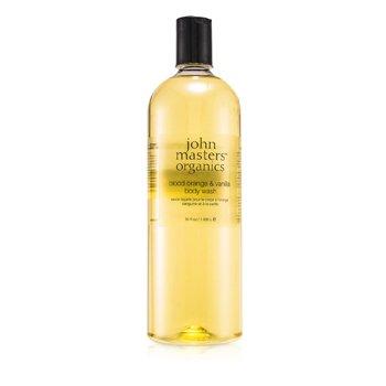 John Masters Organics Gel de Curăţare Pentru Corp cu Vanilie şi Portocală Roşie  1035ml/35oz