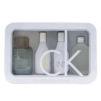 Calvin Klein Edisi Pengembara Coffret: CK One Wewangian 15ml/0.5oz + CK Free Wewangian 10ml/0.33oz + IN2U Women Wewangian 15ml/0.5oz + IN2U Men Wewangian 15ml/0.5oz  4pcs