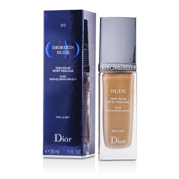 Christian Dior Diorskin Nude Skin Glowing Makeup SPF 15 - # 010 Ivory  30ml/1oz