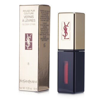 Yves Saint Laurent Rouge Pur Couture Vernis a Levres Brillo Satinado - # 8 Orange De Chine  6ml/0.2oz