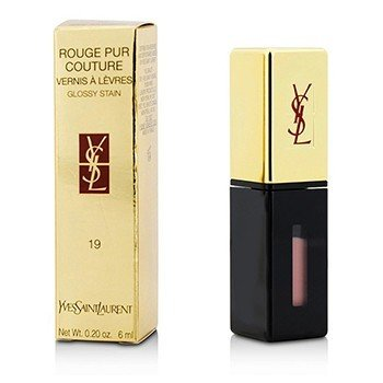 Yves Saint Laurent Rouge Pur Couture Vernis a Levres Brillo Satinado - Gloss Labial # 19 Beige Aquarelle  6ml/0.2oz