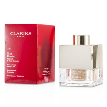Clarins Skin Illusion Mineral & Plant Extracts Base Maquillaje Polvos Sueltos (Con Brocha)- # 110 Honey  13g/0.4oz