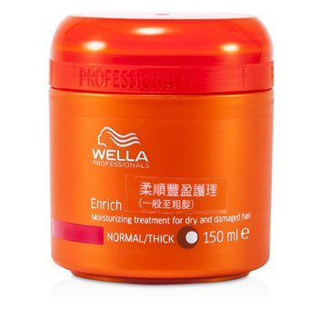 Wella Maska do włosów suchych i zniszczonych Enrich Moisturizing Treatment For Dry & Damaged Hair (Normal/Thick)  150ml/5oz