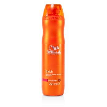 Wella Shampoo hidratante Enrich Moisturizing Shampoo p/ cabelo seco e danificado (Fino/Normal)  250ml/8.4oz