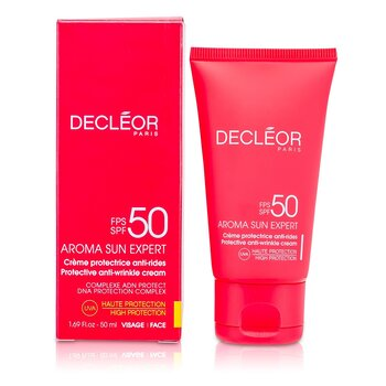 Decleor Creme anti-rugas Aroma Sun Expert Protective Anti-Wrinkle Cream High Protection SPF 50  50ml/1.69oz