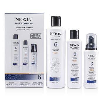ナイオキシン システム 6 キット 普通〜硬い髪& 普通〜抜け毛が気になる髪用: クレンザー 300ml + スカルプ セラピー 150m  3pcs