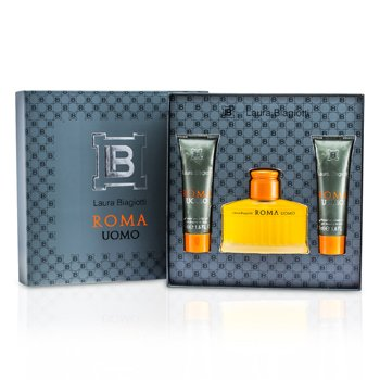 Laura Biagiotti Estuche Roma: Eau De Toilette Spray 75ml/2.5oz + Gel de Baño y Ducha 50ml/1.6oz x 2  3pcs
