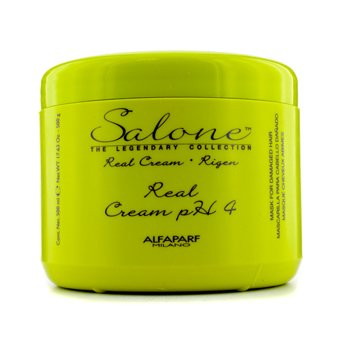 AlfaParf Salone The Legendary Collection Rigen Real Cream PH 4 Repair Mask (For Damaged Hair)  500ml/17.63oz
