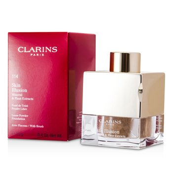 Clarins Skin Illusion Mineral & Plant Extracts Base Maquillaje Polvos Sueltos (Con Brocha) - # 114 Cappuccino  13g/0.4oz