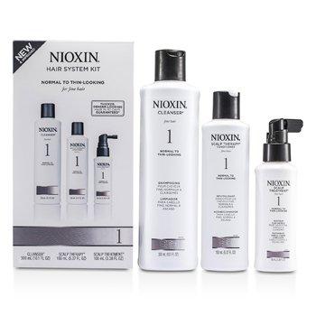 Nioxin Kit Sistema 1 Cabello Fino, Normal a Cabello Adelgazante  3pcs