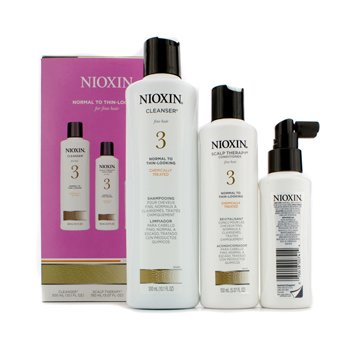 Nioxin System 3 System Kit For Fine Hair, Chemically Treated, Normal to Thin-Looking Hair  3pcs
