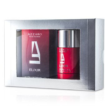 Azzaro Estuche Azzaro: Elixir Eau De Toilette Spray 50ml/1.7oz + Desodorante en Barra 75ml/2.7oz  2pcs