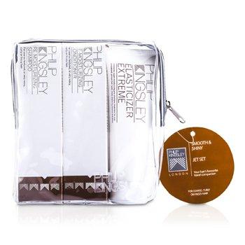 フィリップキングスレー スムース & シャイニー ジェットセット: シャンプー 75ml + コンディショナー 75ml + エラスティサイザー エクストリーム 75ml   3品入