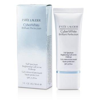 Estee Lauder Cyber White Brilliant Perfection Full Spectrum Brightening Gel Creme Makeup SPF 21 - # 03 Cool Vanilla  30ml/1oz