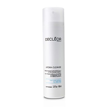 Decleor Loção de limpeza Aroma Cleanse 3 em 1 Hydra-Radiance Smoothing & Cleansing Mousse  100ml/3.3oz