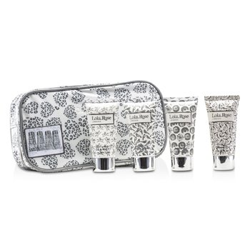 Lola Rose Energising Rock Crystal Travel Set: Shower Gel + Body Lotion + Hand & Nail Cream + Bubble Bath + Bag  4pcs+1bag