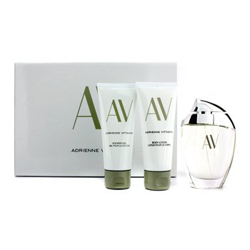 Adrienne Vittadini Kit AV: Eau De Parfum Spray 90ml/3oz + Loção Para Corpo 100ml/3.3oz + Gel de banho 100ml/3.3oz  3pcs