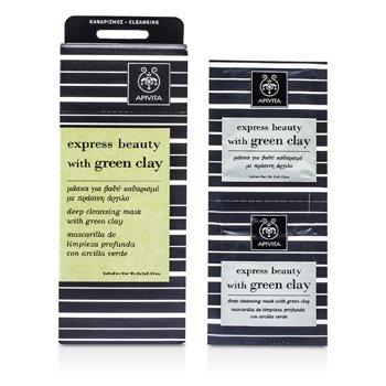 Apivita Express Beauty Máscara Limpiadora Profunda con Arcilla Verde  6x(2x8ml)